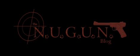 N.U.G.U.N. logo prototype on black background for sixpercenters.com